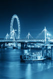 Thames River night view Stock Photography