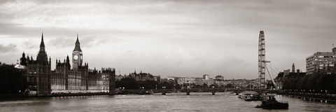 Thames River panorama arkivfoto
