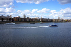 Thames River panorama Royaltyfria Foton