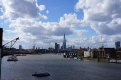 Thames River panorama - skärva Royaltyfri Fotografi