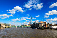 Thames River and Southwark Bridge Royalty Free Stock Photo