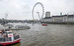 Thames river. View on the Thames River. London royalty free stock photos