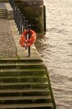 Thames River Walk, Wapping. Royalty Free Stock Photos
