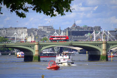 Thames River Westminster Bridge London Royalty Free Stock Photography