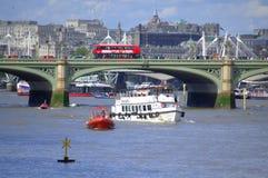 Thames River Westminster Bridge London Stock Photo