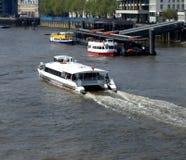 Thames rzeczna Łódź Zdjęcie Stock