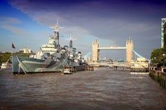 Thames rzeki widok zdjęcie stock