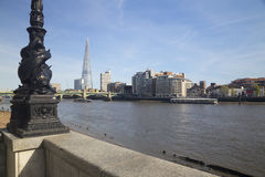 Thames, Shard and a fish street light Royalty Free Stock Images