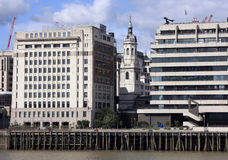 Thames side view london Stock Photo