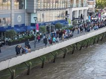 Thames South Bank in London Royalty Free Stock Image