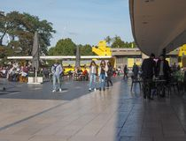 Thames South Bank in London Stock Photography