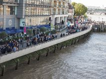 Thames South Bank in London Royalty Free Stock Images