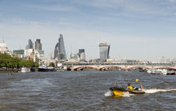 Thames Speedboat Stock Photo