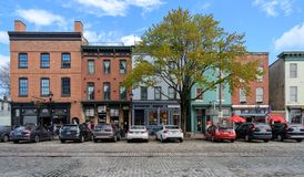 Thames Street in Fells Point Baltimore stock photos