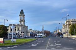 Thames Street, Oamaru, North Otago, New Zealand stock images