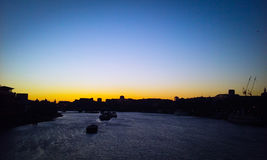The Thames at sunset Royalty Free Stock Photography