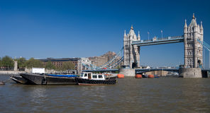 Thames and Tower Bridge Stock Image