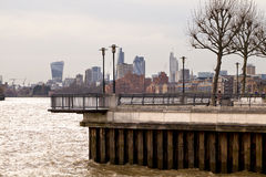 Thames Walk Lookout Stock Photography