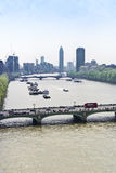 Thames and westminster bridge Royalty Free Stock Images