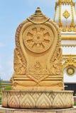 Thammachak dans le temple thaïlandais Images libres de droits