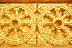 Thammachak, simbolo del dhamma buddista Fotografia Stock Libera da Diritti