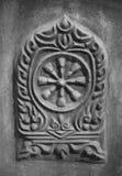 Thammachak symbol av buddism royaltyfria foton