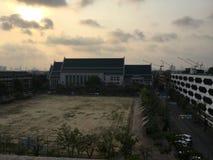 Thammasat u turismo oldbuiding di mattina tailandese della Tailandia Fotografia Stock Libera da Diritti