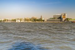 Thammasat University, Tha Pachan campus view from Chao Phraya River. Thammasat is Thailand's second oldest institute of higher ed. Ucation, established in 1934 royalty free stock photos