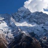 Thamserku mount in Sagarmatha National park, Nepal Himalayas. Thamserku peak, elevation 6623 m in Sagarmatha National park, Nepal Himalayas Stock Photography