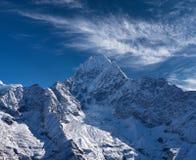 Thamserku mount in Sagarmatha National park, Nepal. Thamserku mount, elevation 6623 m in Sagarmatha National park, Nepal Himalayas Royalty Free Stock Photography