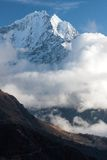 Thamserku from route to Gokyo. View of Thamserku over Portse village from route to Gokyo, Solukhumbu, Nepal Royalty Free Stock Image