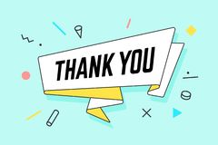 Than You. Ribbon banner with text Thank You royalty free illustration