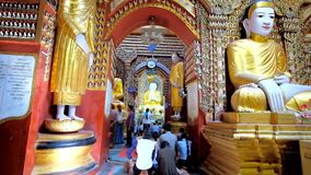In Thanboddhay Pagoda, Monywa, Myanmar stock video footage