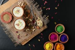 Free Thandai Is Traditional Indin Cold Beverage Popularly Served During Holi. Holi Food Concept Stock Photos - 174563493