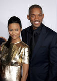 Thandie Newton en Will Smith stock afbeeldingen