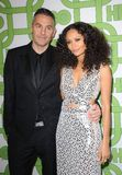 Thandie Newton and Ol Parker royalty free stock image