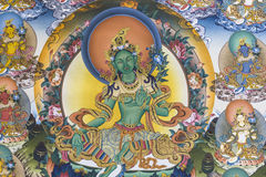 Thangka. Also called Tang Ga, Tang kai, refers to the use of color satin mounted after hanging hanging religious reel painting. Tangka is a unique form of Stock Images