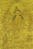 Thangka. Also called Tang Ga, Tang kai, refers to the use of color satin mounted after hanging hanging religious reel painting. Tangka is a unique form of Royalty Free Stock Photo