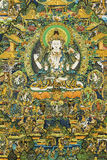 Thangka. Also called Tang Ga, Tang kai, refers to the use of color satin mounted after hanging hanging religious reel painting. Tangka is a unique form of Stock Image
