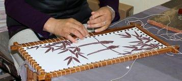 Thangka-Malerei auf Stoff Lizenzfreie Stockfotos