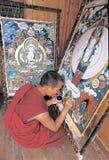 Thangka tibétain Images libres de droits