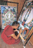 Thangka tibetano Imágenes de archivo libres de regalías