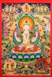 Thangka tibetano fotografia de stock