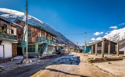 Thangu by, Lachen, norr Sikkim, Indien Arkivfoton