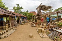 At the Thanh Ha village in Hoi An, Vietnam Royalty Free Stock Photo
