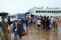 Thanh Thoi ferry boat, Ha Tien, Phu Quoc Stock Photography