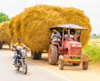 THANJAVOUR,印度- 2月13 :一未认出印地安农村我 免版税库存图片