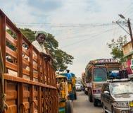 THANJAVOUR,印度- 2月13 :stan一个未认出的印地安的人 库存照片