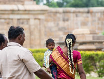THANJAVOUR, ΙΝΔΙΑ - 13 ΦΕΒΡΟΥΑΡΊΟΥ: Ένα μη αναγνωρισμένο ινδικό πρόσωπο ι Στοκ Εικόνες
