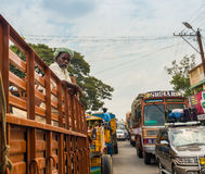 THANJAVOUR, INDIA - FEBRUARY 13: An unidentified Indian man stan Stock Photo